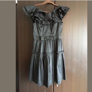 Jill Stuart Womens Ruffle Coctail  Dress Size 6